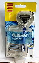 Набір бритвений станок Gillette Mach3 START +2 змінних картриджа