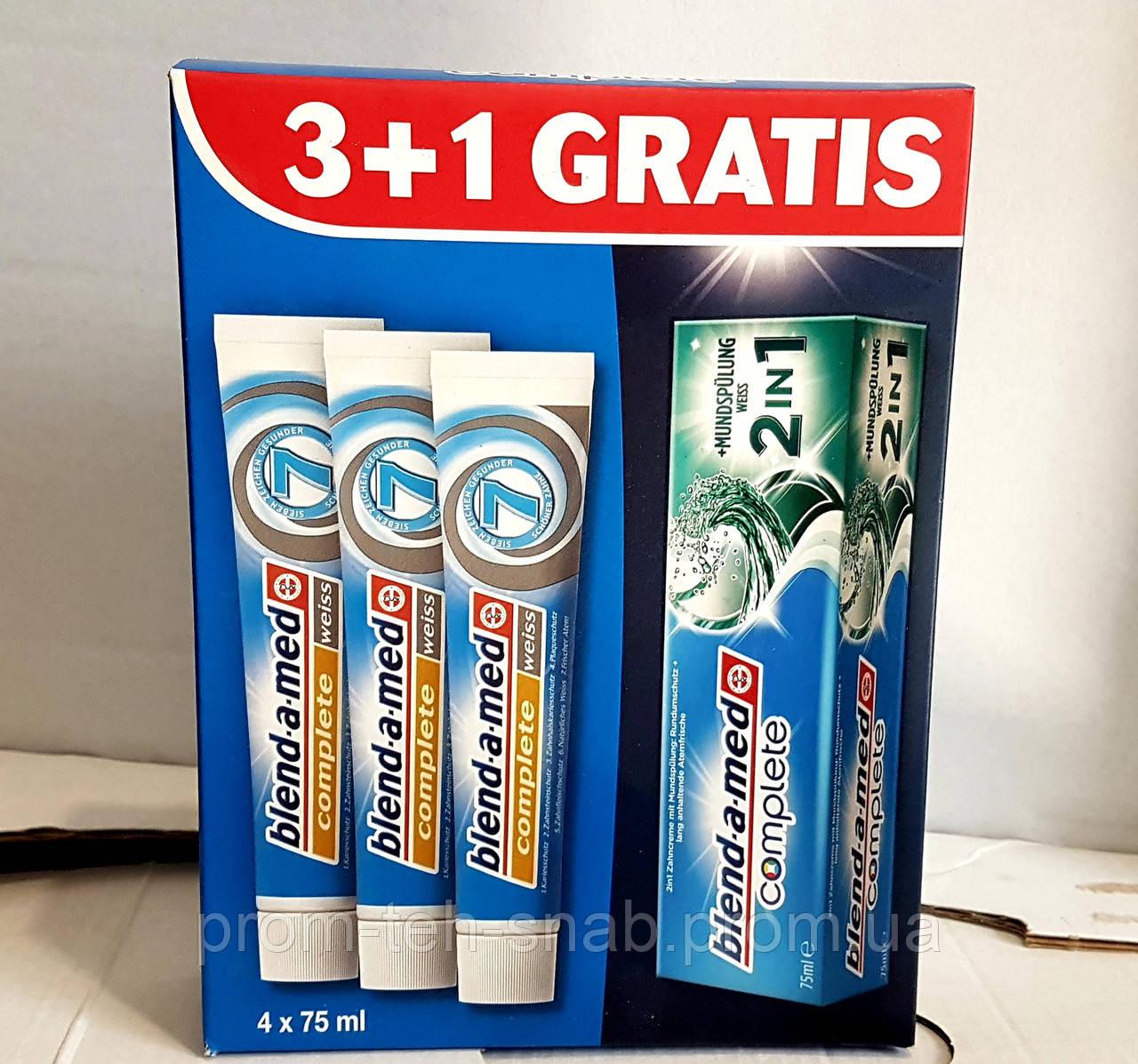 Зубная паста Blend-a-Med Complete 7 мягкая свежесть 4 х 75мл набор