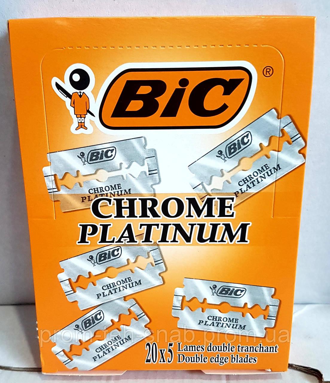 """Набір лез для верстата """"Chrome Platinum"""", 100шт"""