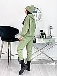 Теплый  спортивный костюм трехнить на флисе + шапка в комплекте размер: 42-44, 46-48,50-52, фото 6