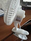Вентилятор настольный Domotec MS-1623 (на прищепке), фото 4