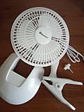 Вентилятор настольный Domotec MS-1623 (на прищепке), фото 5