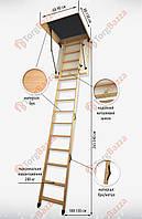 Чердачная лестница 110x60 Bukwood Luxe ST. ОРИГИНАЛ!!!