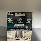 Сменные кассеты GILLETTE MACH3 4 ШТ Оригинал, фото 2