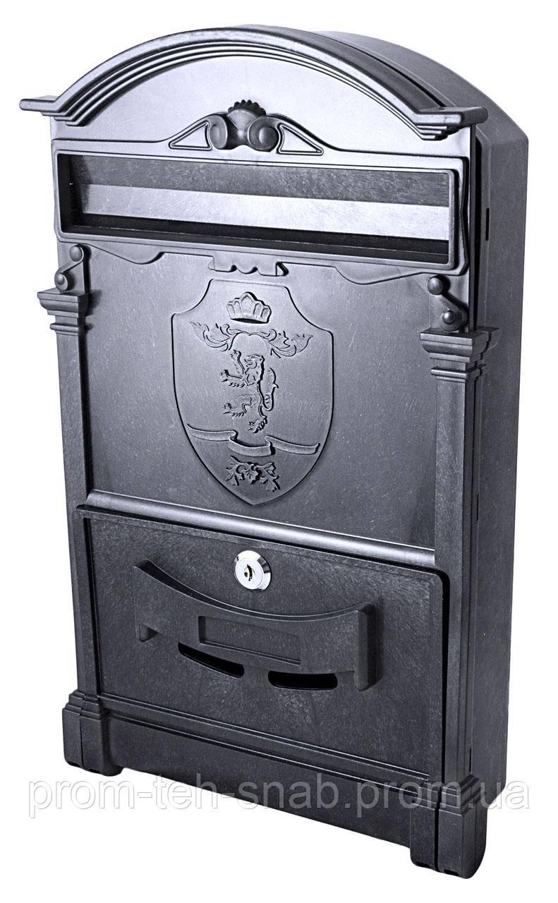 Почтовый ящик VITA цвет чёрный со львом
