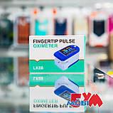 Пульсоксиметр Pulse Oximeter Fingertip LK88 White/Blue, фото 5
