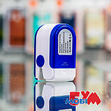 Пульсоксиметр Pulse Oximeter Fingertip LK88 White/Blue, фото 8