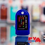 Пульсоксиметр Pulse Oximeter Fingertip LK88 White/Blue, фото 6