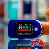 Пульсоксиметр Pulse Oximeter Fingertip LK88 White/Blue, фото 9