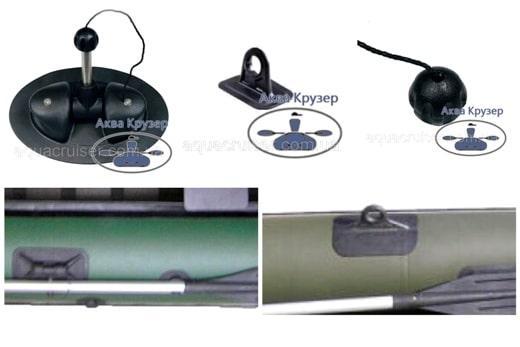 Комплектующие для лодок ПВХ - уключины и держатель весла