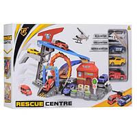 Детский игрушечный автотрек. Треки с машинками набор из 3-х машинок и вертолета