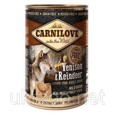 Влажный корм для собак Carnilove Venison & Reindeer 400 г (оленина)
