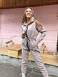 Женский спортивный комбинезон теплый ткань трехнить размер: 58-60, фото 2