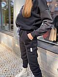 Женский спортивный комбинезон теплый ткань трехнить размер: 58-60, фото 4