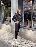 Женский спортивный комбинезон теплый ткань трехнить размер: 58-60, фото 5