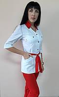 Медичний жіночий костюм Тіффані бавовна три чверті рукав