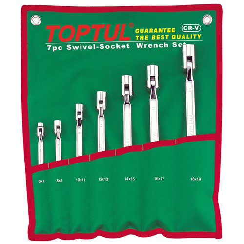 Набір шарнірних ключів дзвіночків TOPTUL 7 шт. 6-19 мм GAAA0704