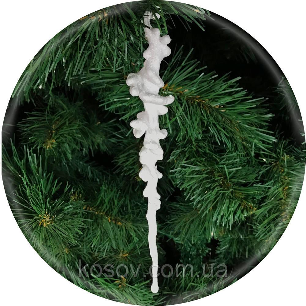 Игрушка на елку «Сосулька» (белая, 26см)