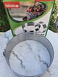 Розсувне кільце для нарізування бісквіту від 25 см до 32 см, фото 2