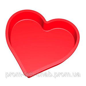 "Форма для пирога силикон ""Сердце гладкое"""