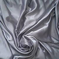 Ткань для штор атласная цвет серый