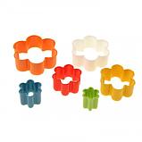 Набор из 5 ти пластиковых вырубок - цветочки , фото 2