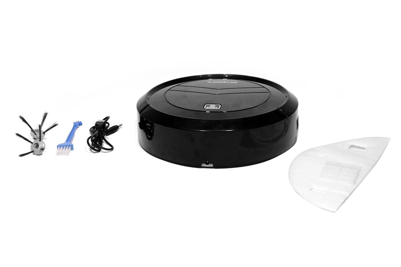 Робот пылесос Ximeijie 669 Smart Sweeper 23 см (умный пылесос) черный
