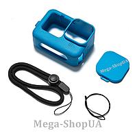 Чехол силиконовый с ремешком для GoPro Hero 9 Black Синий, фото 1