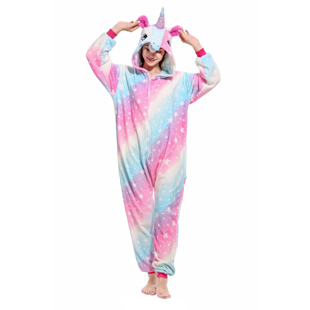 Пижамы кигуруми Единорог для подростков стильная подростковая пижама комбинезон кигуруми звезды