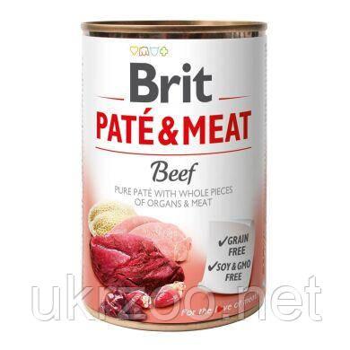 Вологий корм для собак Бріт Пате енд Міт з яловичиною, 400 г, 100072