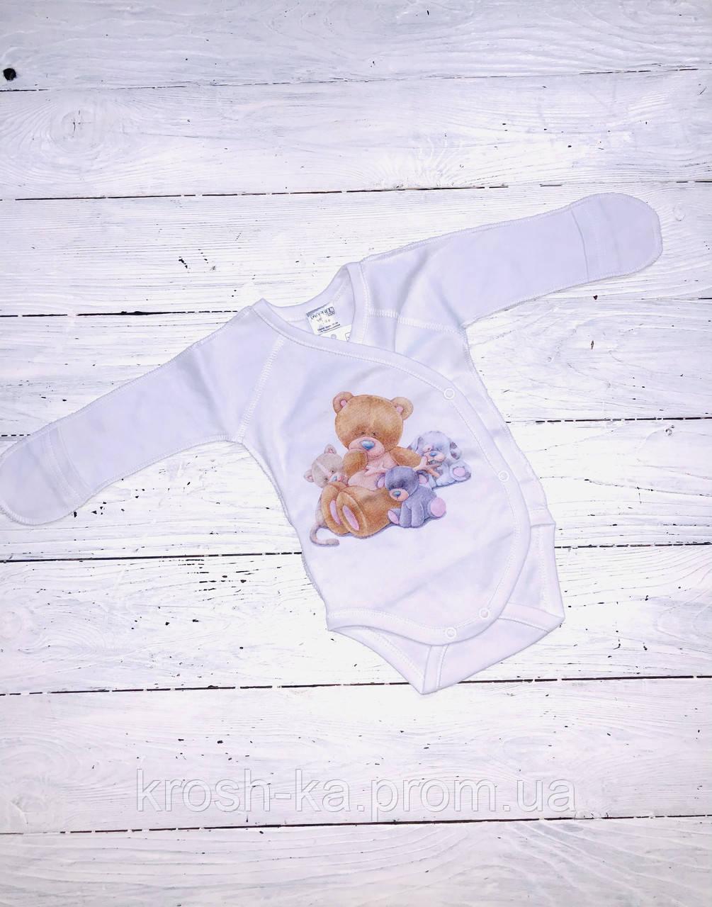 Боди для новорожденных Друзья белый (56-62)р (Гарден)Garden Baby Украина 27053-02
