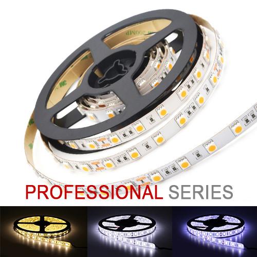LED стрічка 5050 60 led/m 14,4 W/m IP20 12V теплий, нейтральний, холодний білий серія PROFESSIONAL