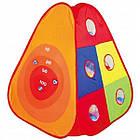 Детская игровая палатка + сухой бассейн + 100 цветных шариков домики туннель, фото 3