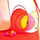 Детская игровая палатка + сухой бассейн + 100 цветных шариков домики туннель, фото 4