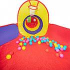 Детская игровая палатка + сухой бассейн + 100 цветных шариков домики туннель, фото 5