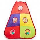 Детская игровая палатка + сухой бассейн + 100 цветных шариков домики туннель, фото 6