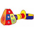 Детская игровая палатка + сухой бассейн + 100 цветных шариков домики туннель, фото 2