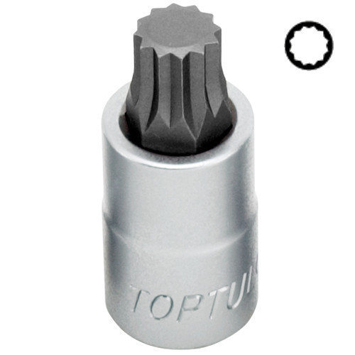 "Головка торцева SPLINE TOPTUL M16 L55мм 1/2"" BCHA1616"