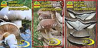 Мицелий грибов Вешенка обыкновенная, 10 г,Шиитаке императорский, 10 г,Шампиньон крупноплодный, 10 г