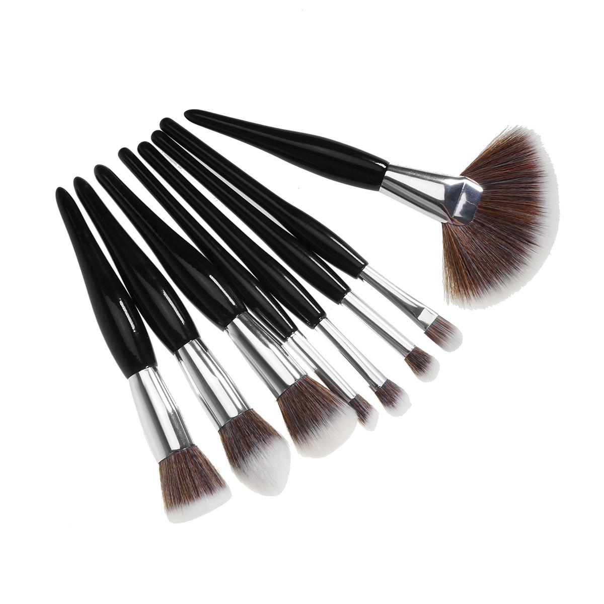 Набір кистей для макіяжу 8 шт, чорний