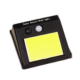 Настінний вуличний LED-світильник на сонячній батареї з датчиком руху 48 LED