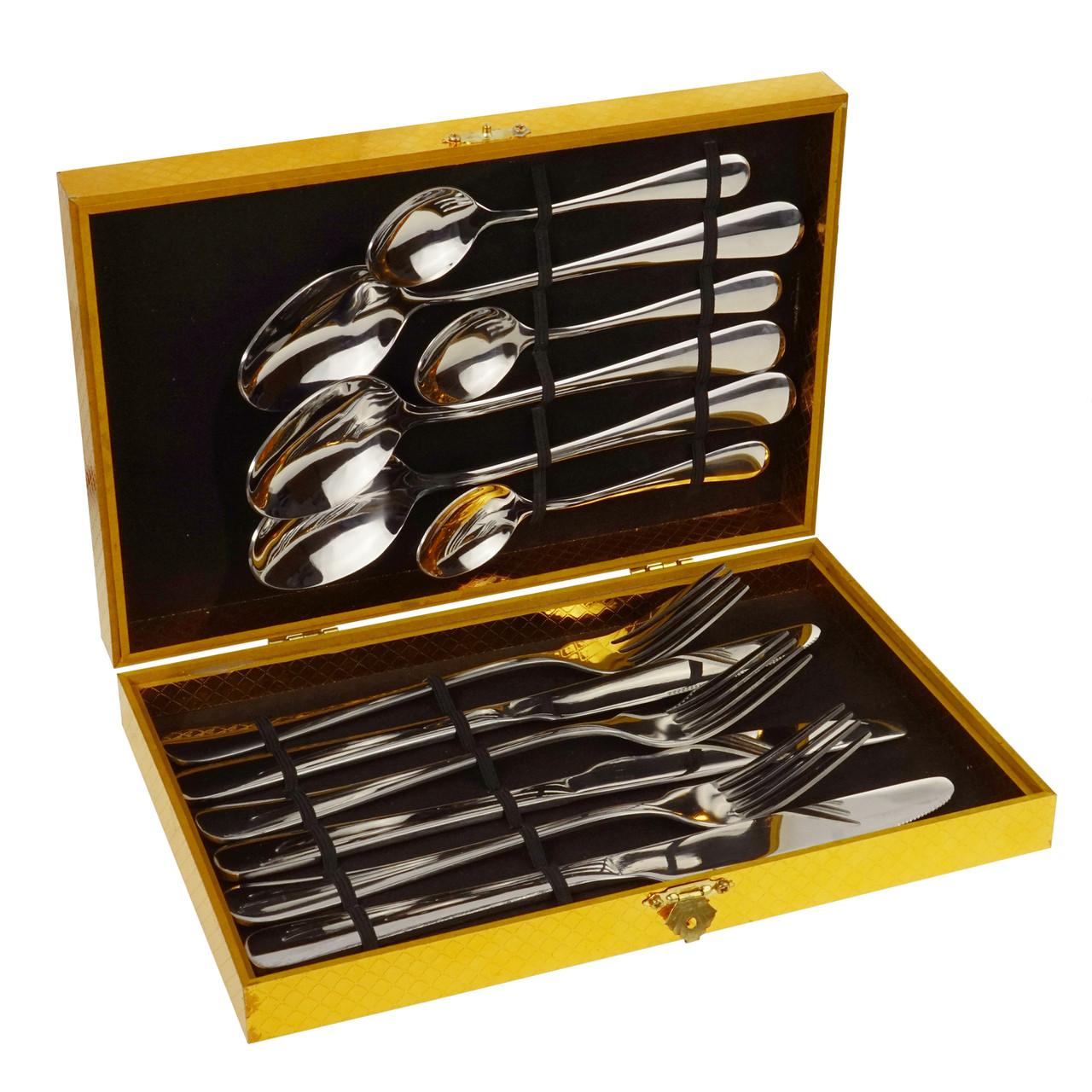 Набор столовых приборов в подарочном кейсе на 12 предметов