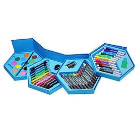 Набор для рисования в раскладной коробочке Микки Маус, 46 предметов