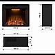 Каминокомплект Fireplace Сеул с эффектом сгоранием дров и пламени со звуком и обогревом, фото 5