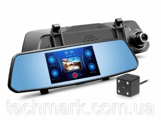Видеорегистратор - зеркало DVR X10 с сенсорным экраном на 2 камеры G-sensor Pro HD
