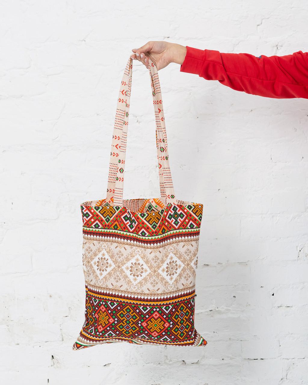 Эко сумка шоппер Орнамент