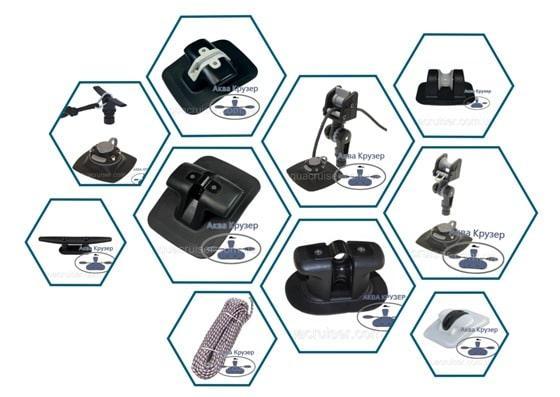 Комплектующие и аксессуары для лодок ПВХ - якорное оборудование надувной лодки