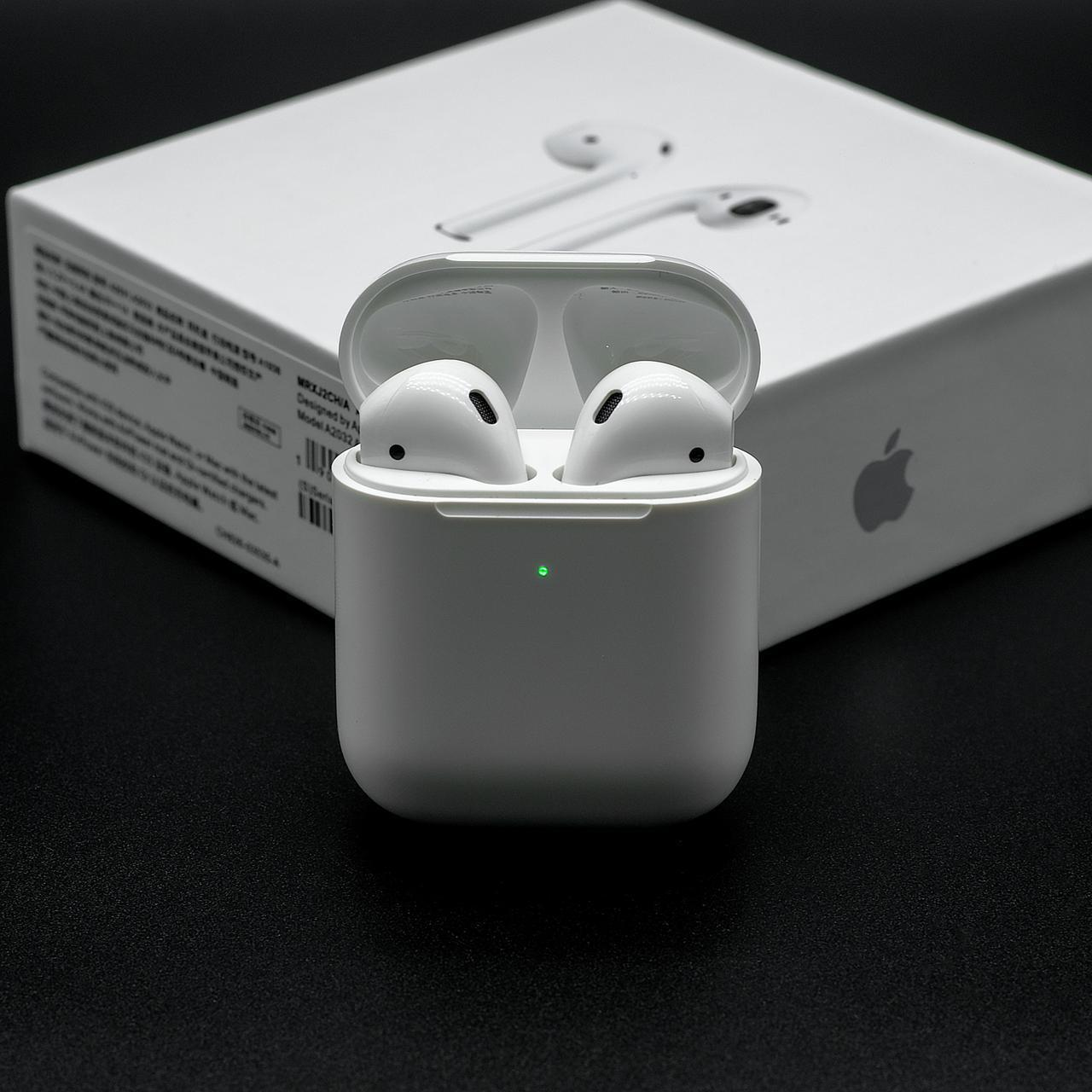 Навушники AirPods 2 Apple AirPods 2 з бездротовою зарядкою (  класу люкс)