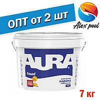 Aura Fasad Біла 7 кг - Фасадна фарба біла матова акрилова для зовнішніх і внутрішніх робіт