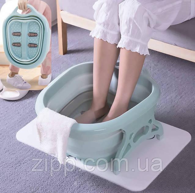 Складная массажная ванночка для ног | Массажер-ванна роликовая